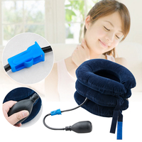 Air Inflatable Neck Head Traction Pillow Cervical Neck Stretcher Traction Pain Relief Shoulder Back Tension Body