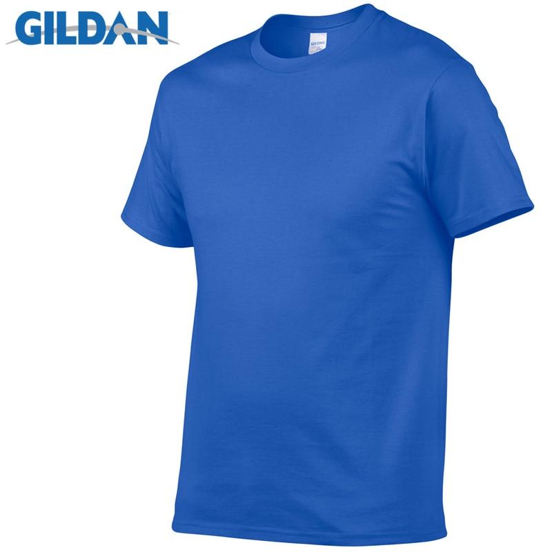 Gildan Brand Hot Sale Men's Summer 100% Cotton T Shirt Men Casual Short Sleeve O Neck T Shirt Comfortable Solid Color Tops Tees|T-Shirts| - AliExpress