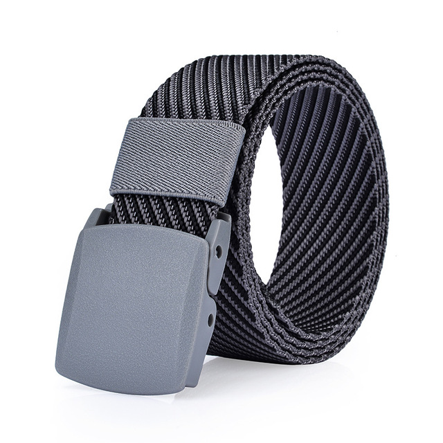 Men's Canvas Belt No Metal Anti Allergy Stripe Tactics Women Canvas Belt Casual male and female Pants Belts Breathable For Jeans