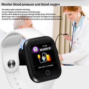 Image 4 - LIGE IP68 Wasserdichte Smart Armband Sport Fitness Tracking Blutdruck Herz Rate Monitor Smart Armband Schrittzähler uhr Männer