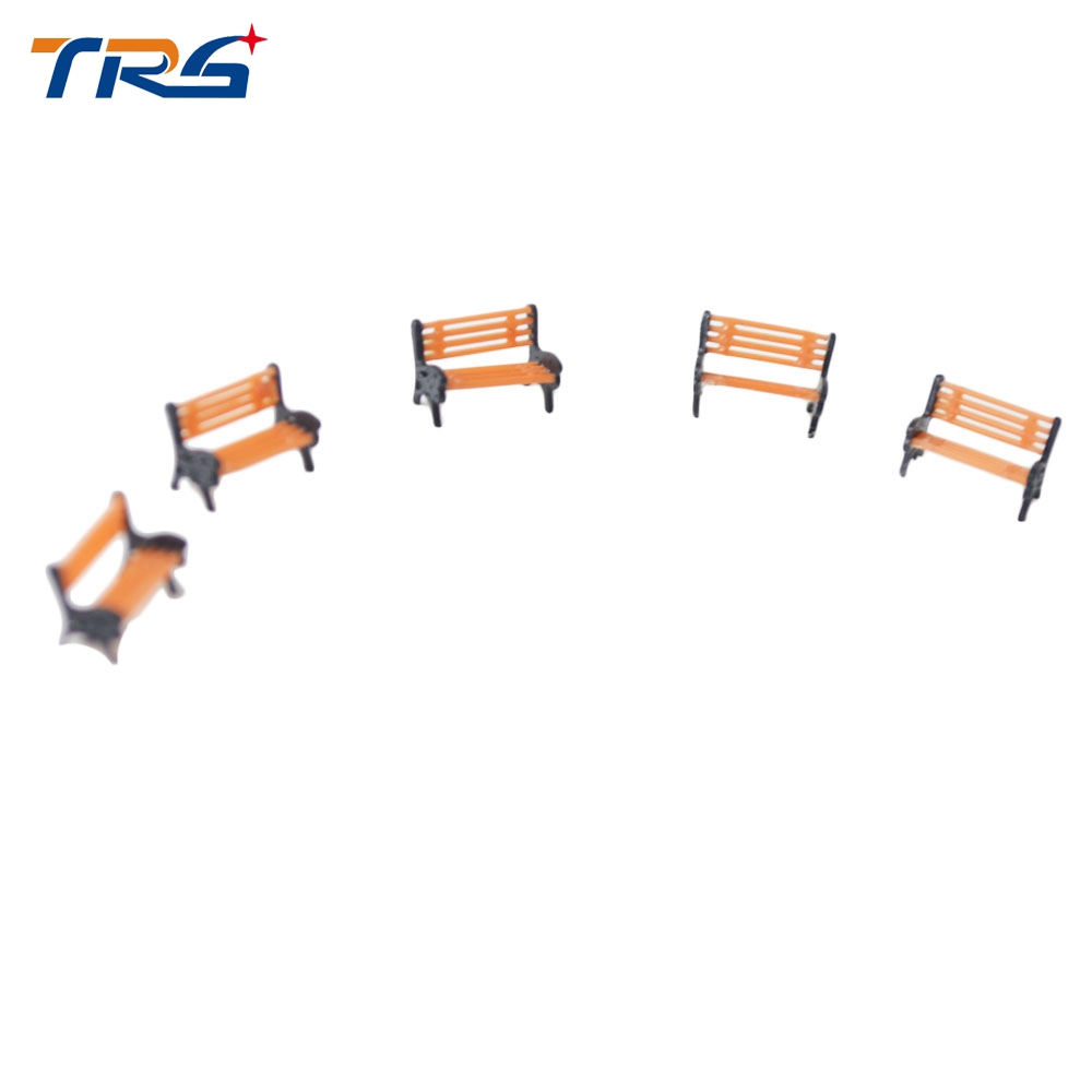 50pcs 1:100 Model Garden Bench miniature scale model bench 1:100 for Model Railway layout