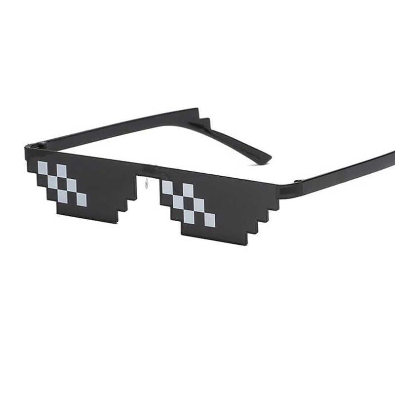0113ea7b9a ... Minecraft gafas de moda 2018 de moda Partido de puntos de píxeles gafas  de sol negro