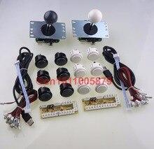 Japan Genuine 12 X SANWA OBSF-30 Push Buttons + SANWA JLF-TP-8YT Joysticks + Zero Delay PC USB Encoders For MAME DIY-Gray+White