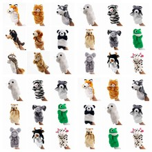 Hand Puppet Cute Animals Panda Mouse Puppet Plush Dolls For Kids Learning Baby Toys Finger Puppet Glove Animals Hand Puppets Toy(China)