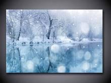 1 painel frete grátis neve do inverno pintura de impressão na lona Wall Art imagem decoração / we051