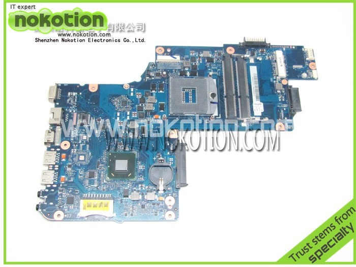 NOKOTION H000038380 for toshiba satellite C850 laptop motherboard Intel hm76 DDR3 PGA989 Mainboard full tested nokotion for toshiba satellite c850d c855d laptop motherboard hd 7520g ddr3 mainboard 1310a2492002 sps v000275280