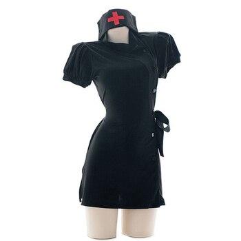 Women Sexy Costume Nurse Girl Uniform Set Apparel Role Play Cosplay Uniform  4