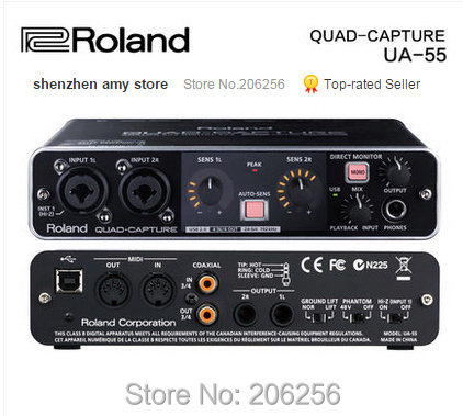 new hot roland ua 55 professional recording sound card usb audio interface promotions free. Black Bedroom Furniture Sets. Home Design Ideas