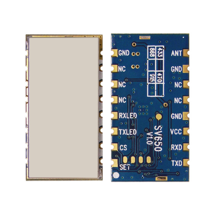 1 pc / lote SV650 433 MHz RS485 Embutido 500 mW módulo transceptor - Equipamento de comunicação - Foto 2