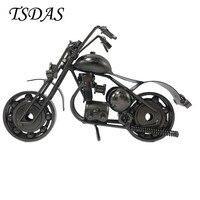 2017 수제 오토바이 모델 선물 장난감 소장 럭셔리 블랙 철 오토바이 모델 홈 장식