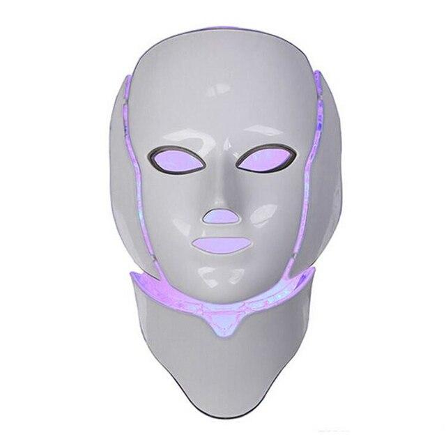 Korean LED Photodynamic Masks 7 Colors Lights LED Photodynamic Facial Mask Home Use Beauty Equipment Anti-acne Skin Rejuvenation 1