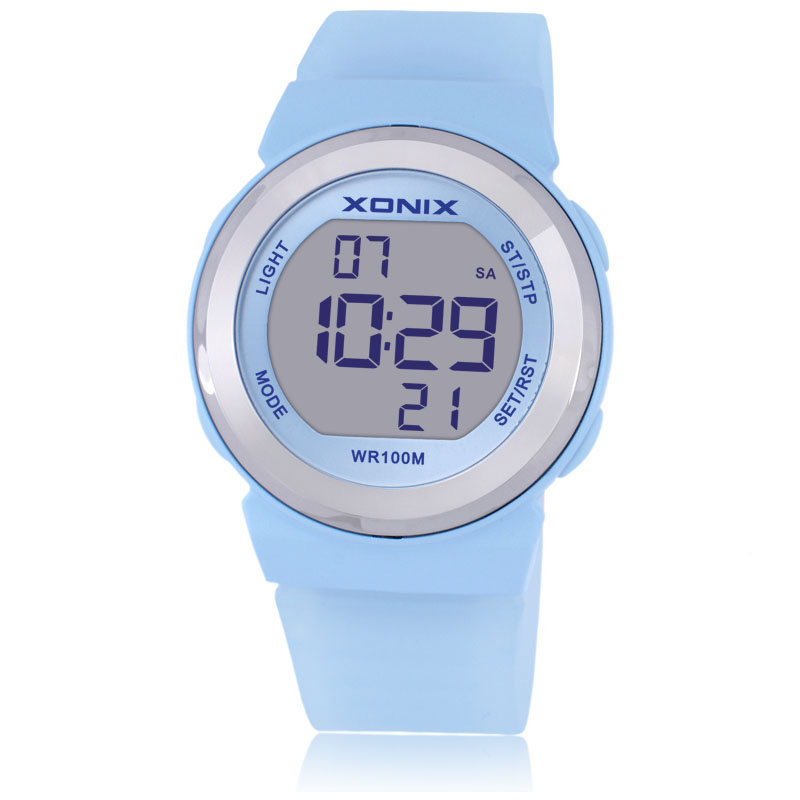 XONIX Fashion Women Sport Watch 100m Waterproof Ladies Diving Digital Watch Clock Women Sport Watches For