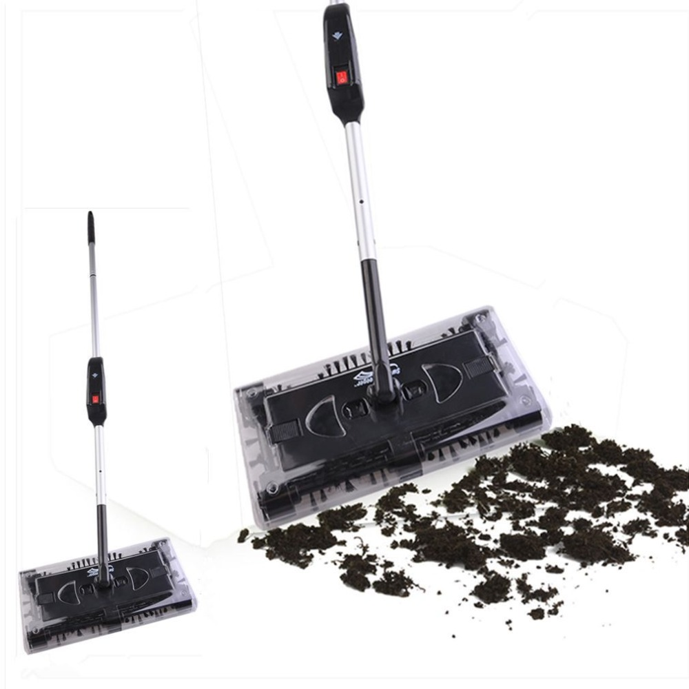 2018 New Electric Broom Swivel Sweeper With Elbow Joint Rechargeable Battery Vacuum Cleaner Broom With Battery Box Battery метла swivel sweeper max g8