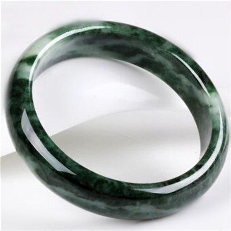 Natural Dark Green Jade Bracelet Authentic Guizhou Jade bracelet Round Bangles Bracelet Beautiful Women's Jade Jewelry