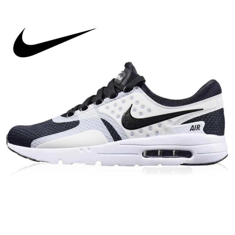 Original autêntico NIKE AIR MAX tênis de corrida dos homens respirável esportes ao ar livre ESSENCIAL de ZERO sapatos confortáveis 2019 novos 876070