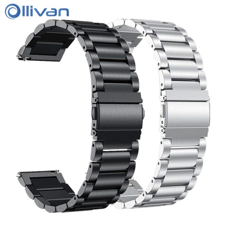 20mm Band Stainless Steel Wrist Strap For Garmin Vivoactive 3 Watch Band Bracelet Strap For Garmin Vivoactive3 HR Forerunner 645