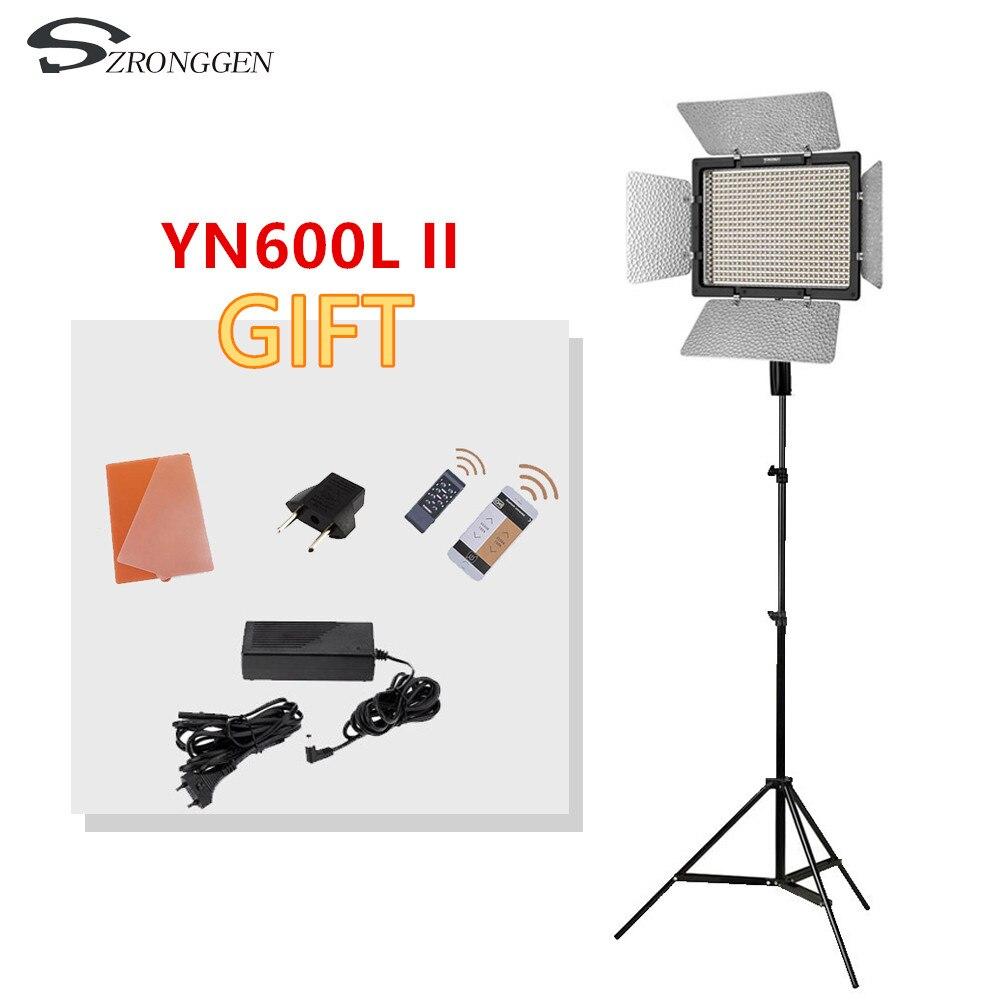 Yongnuo YN600L II YN600L II 600 LED video light panel 3200 5500K photography set tripod adapter