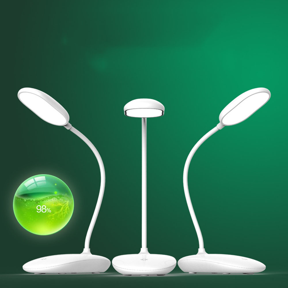 Led Table Lamp USB Rechargeable White Led Lamp PC Contemporary Dimmable Rechargeable Led Desk Lamp Luminarias