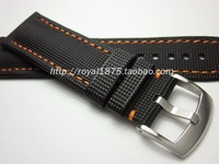 Watch Strap Stainless Steel Buckle Watch Bracelet Leather Strap for Omega Watch Seamaster 215 Speed for Blancpain 23MM