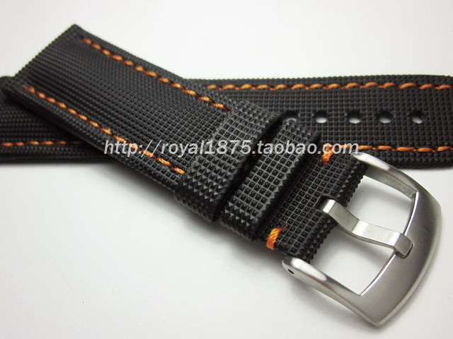 Watch Strap Stainless Steel Buckle Bracelet Leather For Omega Seamaster 215 Sd