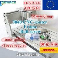[AB Stok/Ücretsiz KDV] 3040 Masaüstü CNC freze makinesi 52mm Mekanik kiti vidalı Hız Regülatörü + 300W Mili