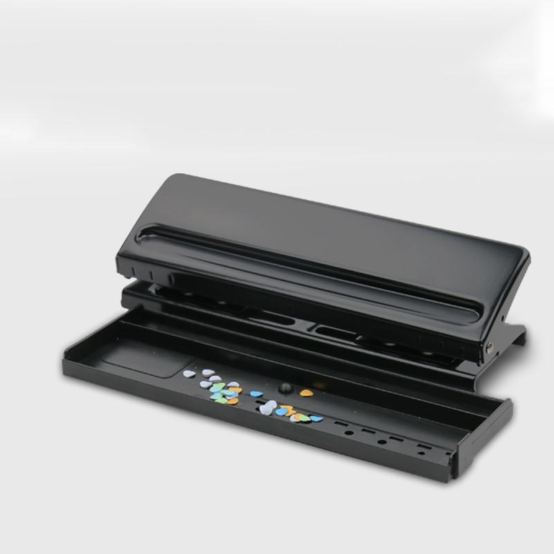 Купить с кэшбэком Metal 6 Hole Punch Scrapbooking Tools Paper Cutter Adjustable A4 A5 A6 Loose-Leaf DIY Craft Puncher Office Binding Supplies