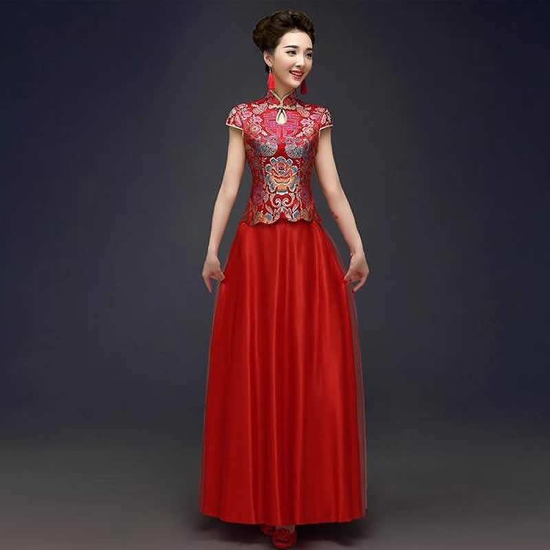 Buy 2016 traditional chinese wedding for Traditional red chinese wedding dress