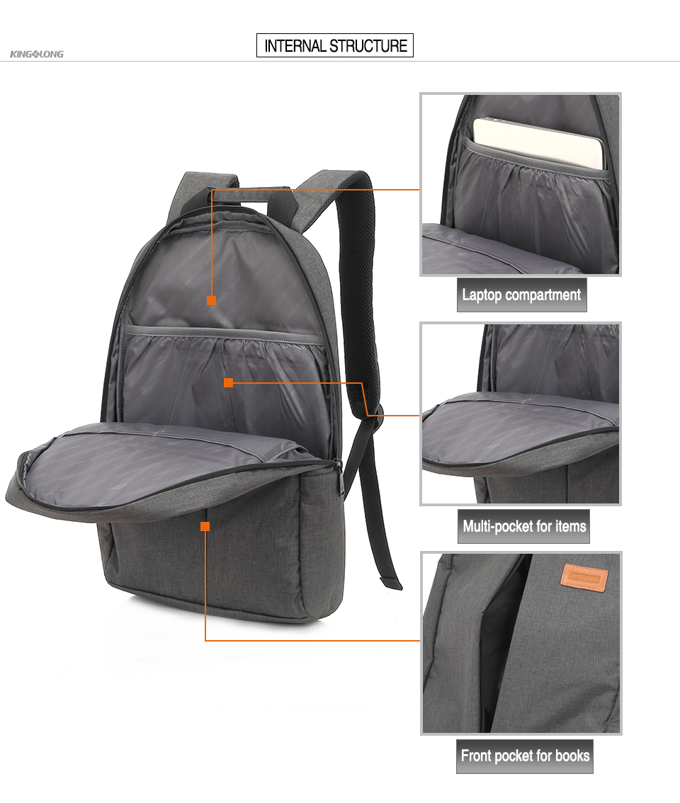 0f6bf8a12fb5 KINGSLONG Mens Backpack Laptop Backpack 15.6 Inch Computer School Bag  Unisex Backpack for Adolescent Unisex Mochila KLB1310-4USD 23.47-25.63 piece