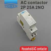1 pcs TOCT1 2P 25A 220V/230V 50/60HZ Din rail Household ac Modular contactor 2NO