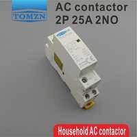1 stücke TOCT1 2 P 25A 220 V/230 V 50/60 HZ din-schiene Haushalts ac Modulare schütz 2NO
