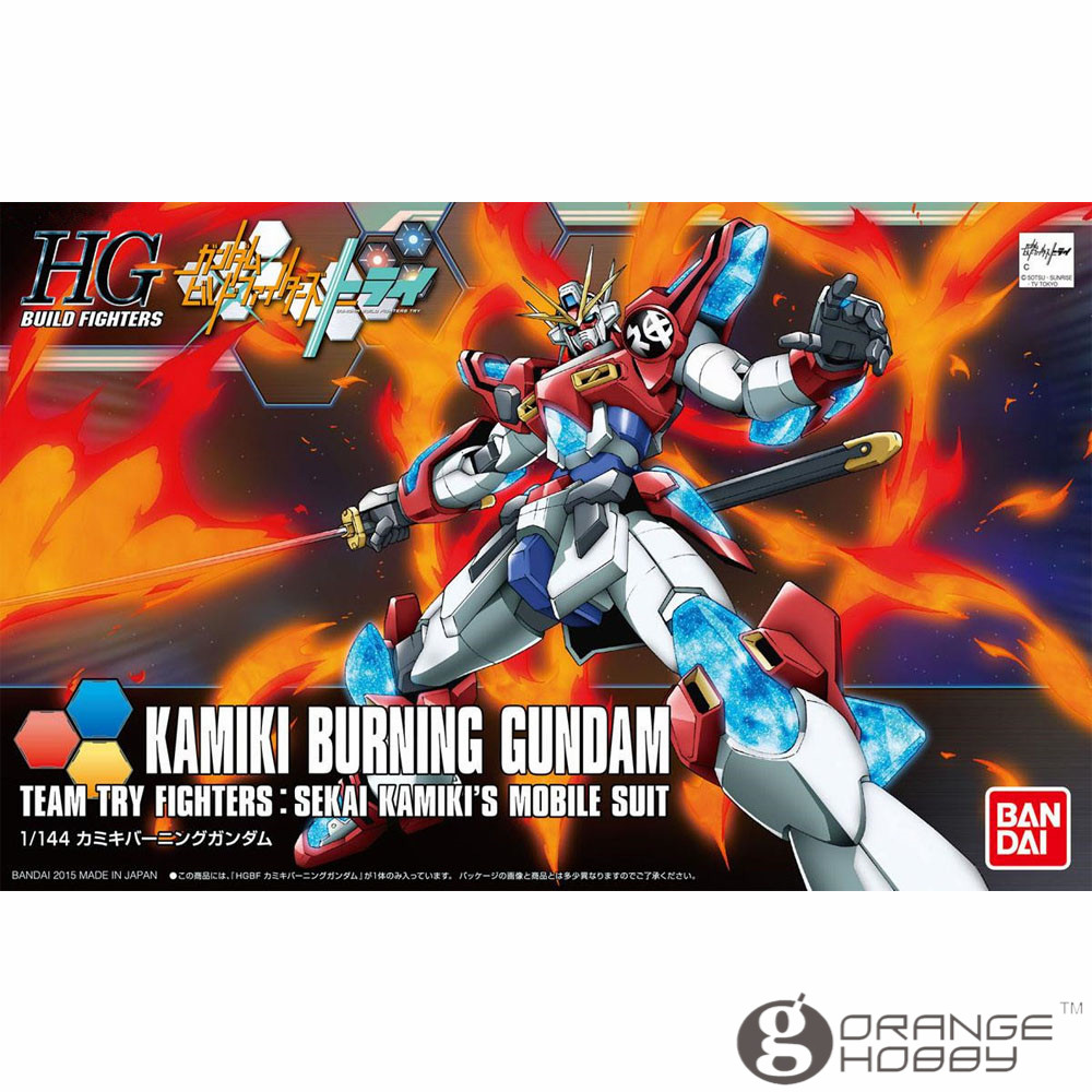 OHS Bandai HG Build Fighters 043 1 144 Kamiki Burning Gundam Mobile Suit Assembly Model Kits