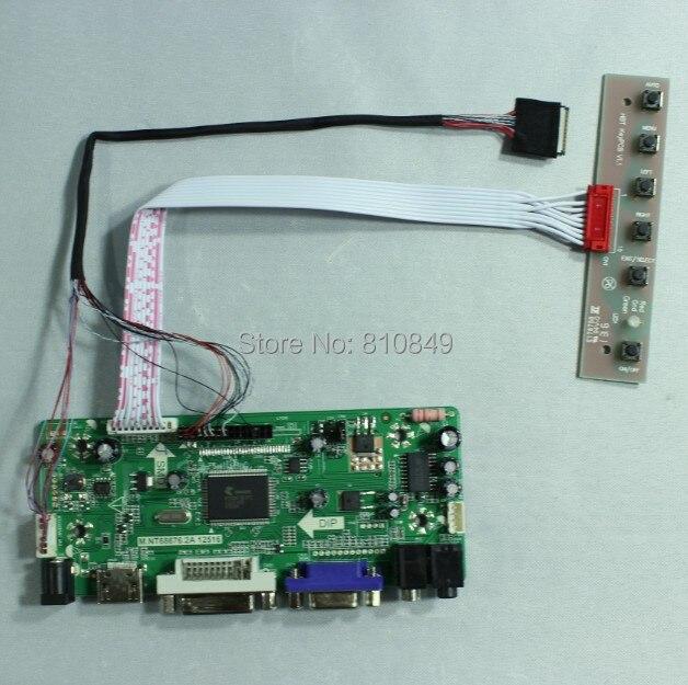 HDMI+DVI+VGA+Audio Lcd controller board for 13.3inch 1280*800 HV133WX1 Lcd panel hdmi dvi vga audio lcd control board for 12 1inch lq121s1lg75 800 600 lcd panel