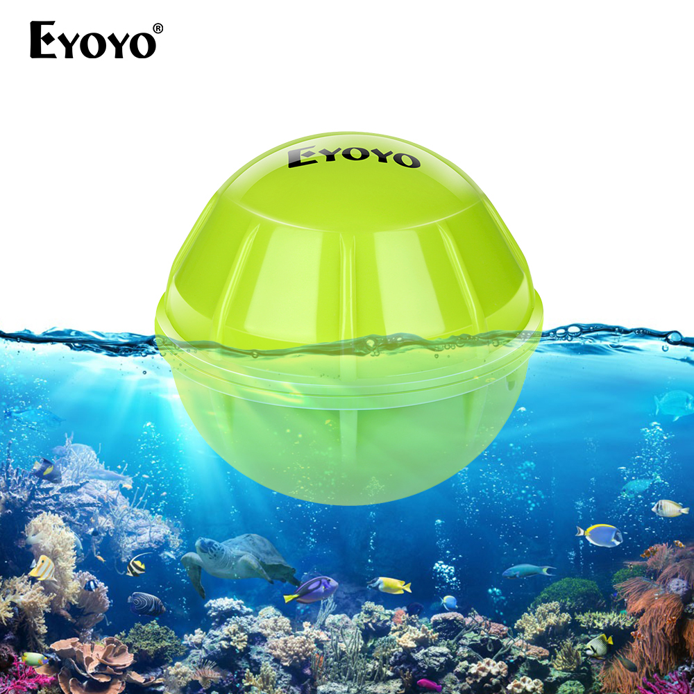 Eyoyo E1 Fish finder sonar for fishing Bluetooth Wireless Depth smart fishing Detect echo sounder <font><b>deeper</b></font> <font><b>FishFinder</b></font> IOS Android image