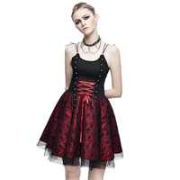 Steampunk Women's Bandage Party Ball Gown Summer Gothic Skull Printed Slip Formal Dress Halloween Costume