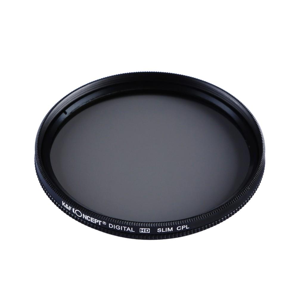 K&F CONCEPT UV+CPL+FLD+ND4 Neutral Density Camera Lens Filter Kit+Bag+Lens Hood Cap+Cleaning Cloth For Canon/Nikon/Sony DSLR 6