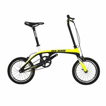 BEIOU Sports Downtown Carbon 1 Speed Complete Bicycle Comfort Bike 16 Inch Wheels Ultra Superlight Urban