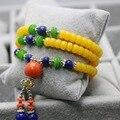 Ethnic Style Retro Thailand Buddha Bracelet For Women Girls Hand Chain Beads Ladies Pendant Tassels Jewelry Making Design