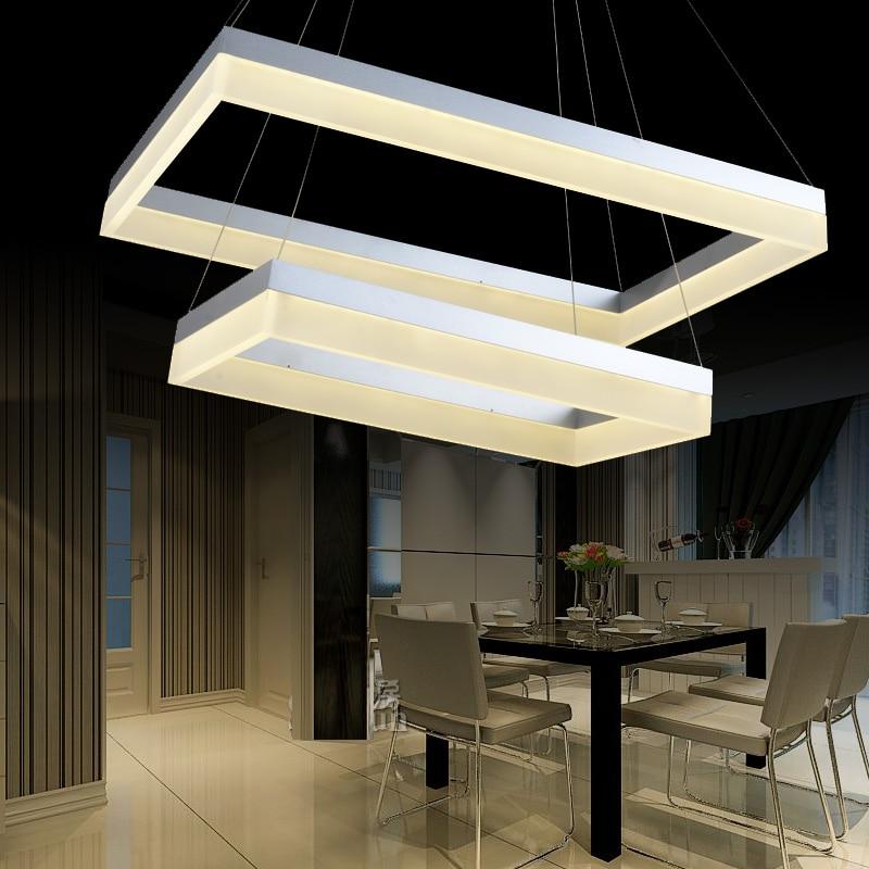 led font b pendant b font light font b rectangle b font living room lights brief