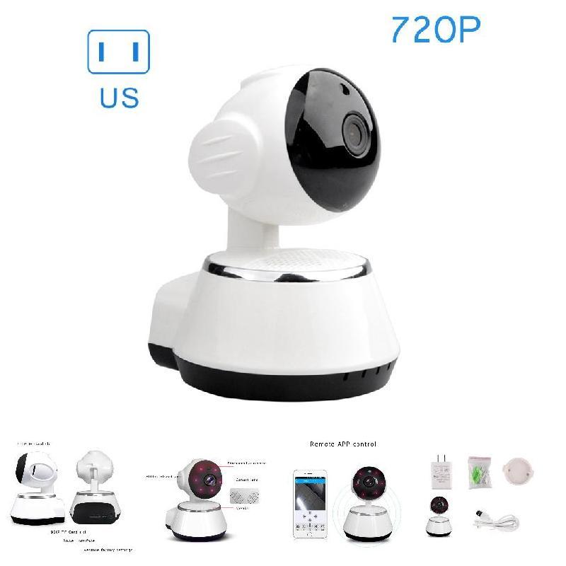 720P Wireless Baby Monitor IR Night Vision Security Camera For Baby CCTV IP WiFi Cameras US Plug LCC77