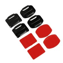 цена на Adhesive Mounts For Gopro 7 6 5 4 3 Curved Pad Mounts 3M Sticky Pads For Go Pro Action Camera Helmet Board Car Accessories
