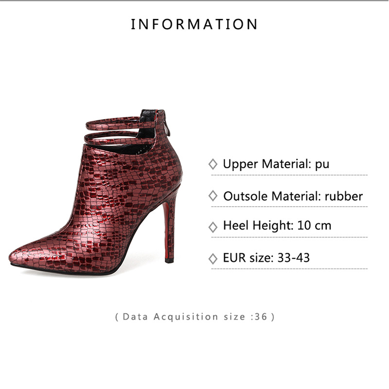 moda inverno tacchi nero donne sottili designer stivaletti 33 Zipper punta femminile Big avvio 43 a scarpe scarpe Size sexy 2018 rosso scarpe wHfXa4g