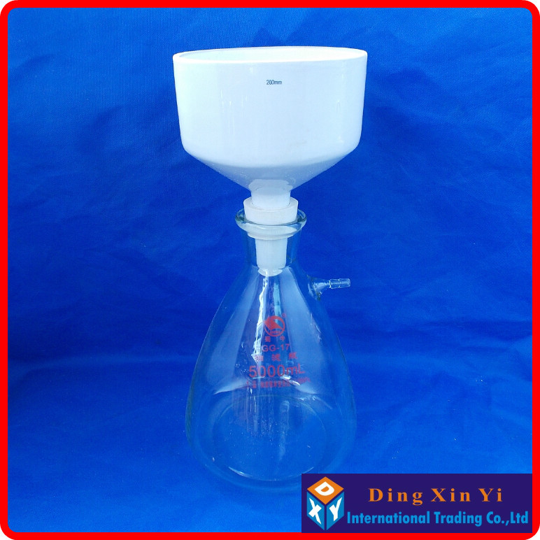 5000ml suction flask+200mm buchner funnel,Filtration Buchner Funnel Kit,With Heavy Wall Glass Flask,Laboratory Chemistry цена 2017