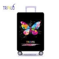 TRIPNUO 蝶弾性荷物保護カバー、 Suitable18 32 インチ、トロリーケーススーツケースダストカバー旅行アクセサリー -