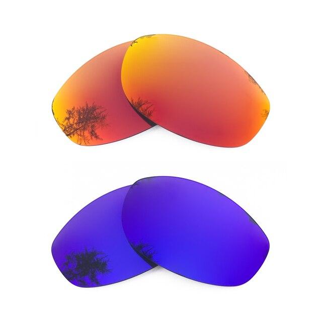 cad5117d3a4be Naranja rojo espejo y púrpura espejo polarizado lentes de reemplazo para X  Metal XX marco 100