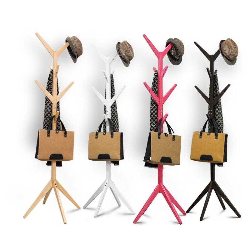 Твердая древесина coatrack филиал модная детская одежда стойки крюк Спальня вешалка Вешалки для пальто собрать красочные гостиной мебелью