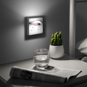 Image 5 - Mini Cute LED Socket Night light EU Plug Sensor auto on/off Wall lamp 110V 240V LED light Baby Kids Bedroom home night lighting