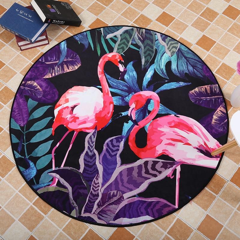 High Quality Flamingo Acrylic Captain Round Rugs Living Room Doormat Cartoon Carpets Door Floor Mat for Bedroom Carpet Kids Room