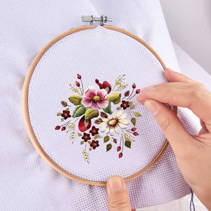 Wood Hand Embroidery Hoop Round Cross Stitch Frame Needle crafts DIY Tool High Quality