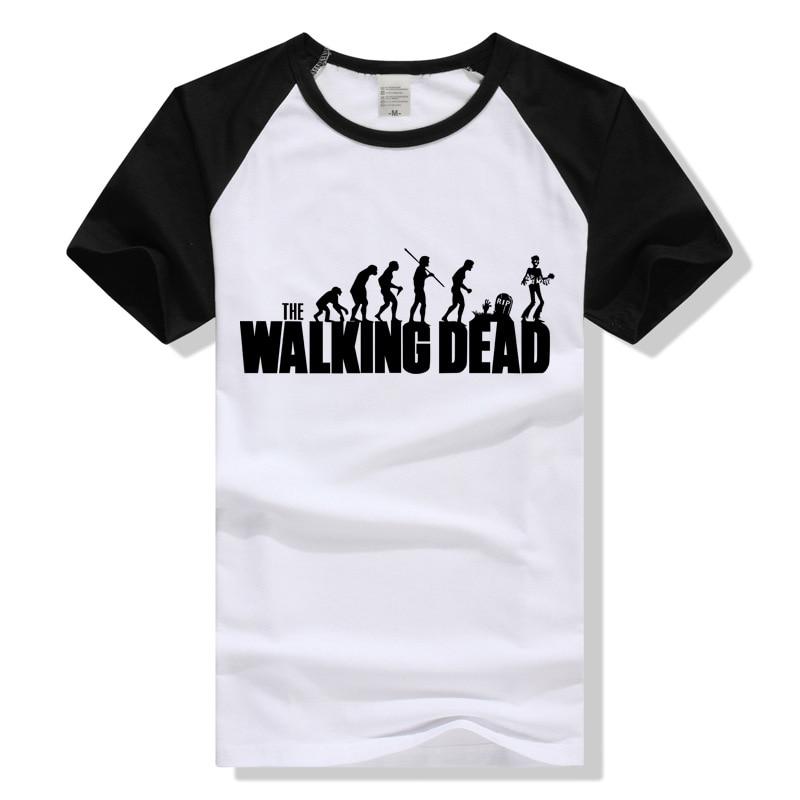 TEEWINING The Walking Dead Human Evolution Tshirt Men Women T Shirt Short Sleeve Clothing Camisa Masculina