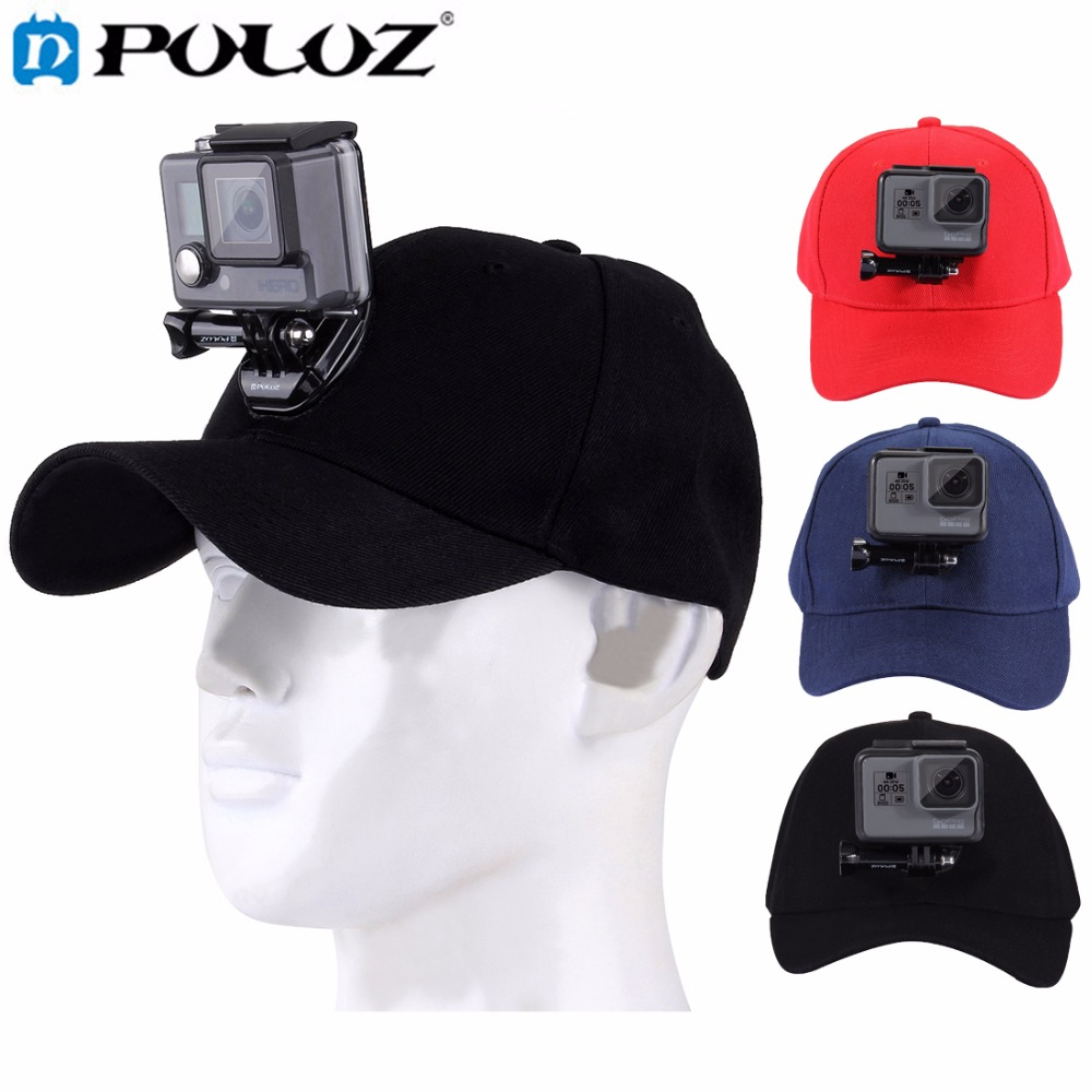 PULUZ for Sport camera GoPro Accessories Canvas Baseball Hat Cap W/ J-Hook Buckle Mount Screw for GoPro HERO5 HERO4 Session HERO 12 in 1 multifunctional accessories w chestbelt mount helmet belt base more for gopro hero